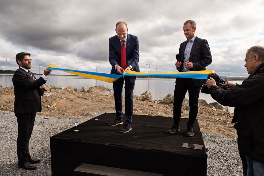Inauguration of Blaiken wind park.