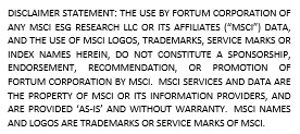 Disclaimer Statement MSCI ESG