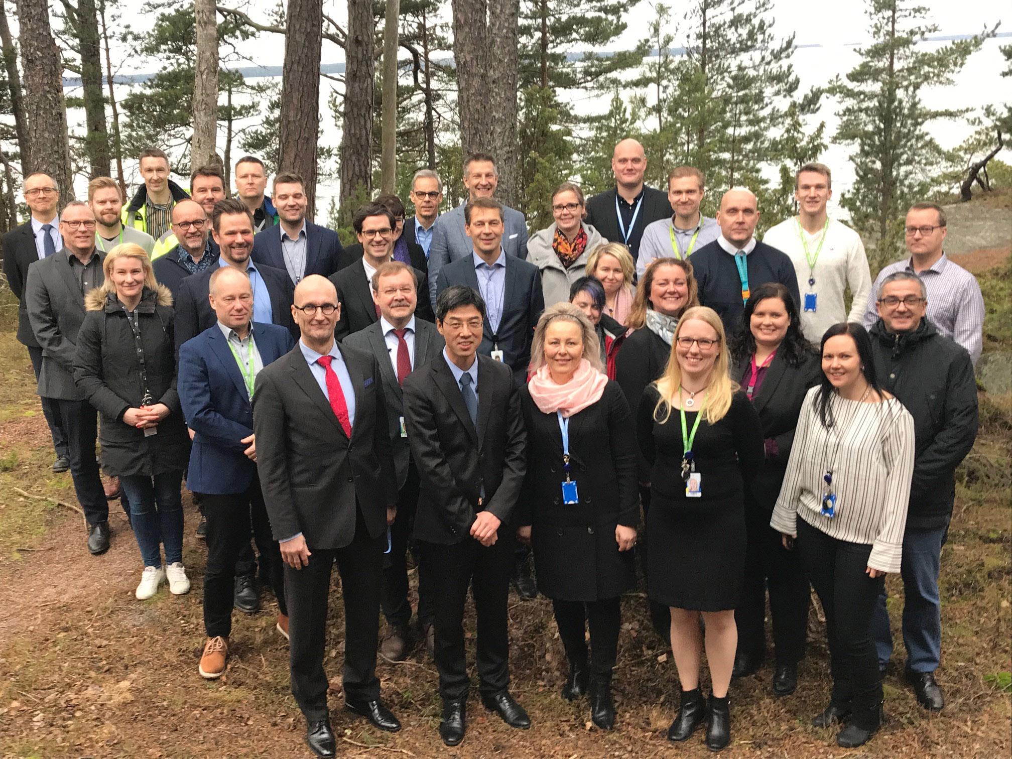IAEA OSART and Fortum's Loviisa power plant team at Loviisa in Feb 2020