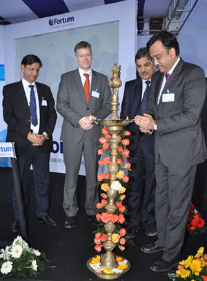 Inauguration of new solar plant in India