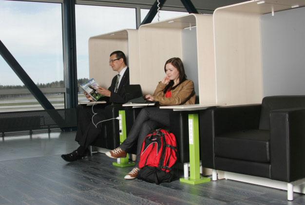 Suvanto lounge at the Helsinki-Vantaa Airport