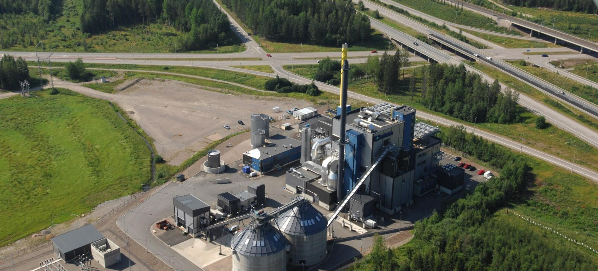 Our Power Plants Fortum Out In The Stadium Battery Is Source Of Electricity Jrvenp Chp Plant