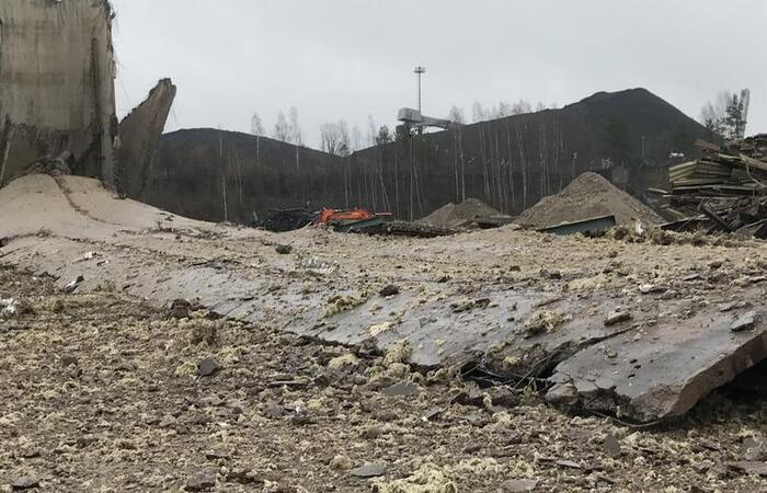 Inkoo coal plant demolition