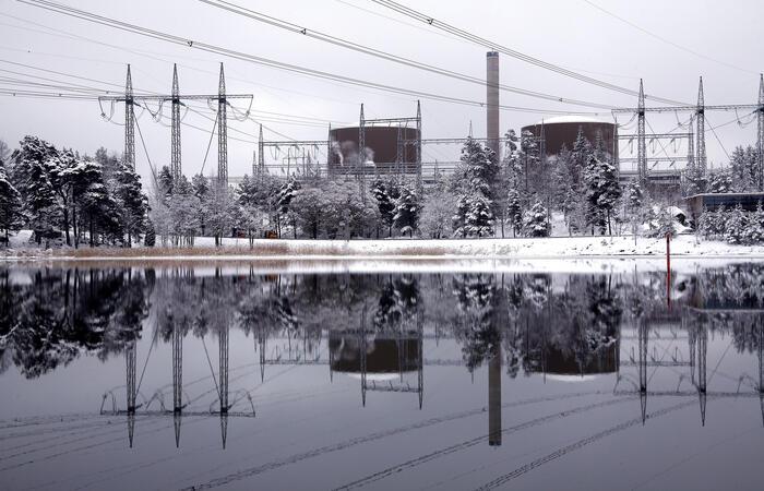 Loviisa nuclear power plant, winter