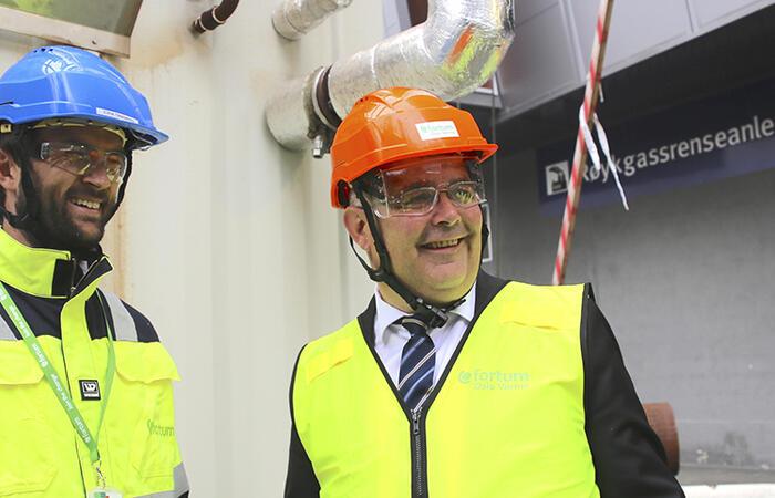 MD Eirik F Tandberg, Fortum Oslo Varme and Minister of Oil and Energy Kjell-Børge Freiberg